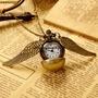Lindo Relógio De Bolso Pombo De Bronze Quartzo Detalhado