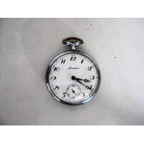 Relógio De Bolso Antigo Mondaine - Suíço - 17 Jewels
