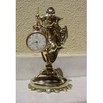 Suporte De Mesa Para Relógio De Bolso Do Anjo Em Bronze