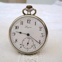 Raridade - Relógio De Bolso Longines 12 Medalhas Em Prata!!