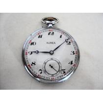 Relógio De Bolso Antigo Suíço Aurea