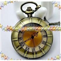 Relógio De Bolso Estilo Antigo Bronze Envelhecido
