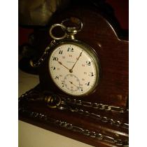 Relógio Bolso Zenith Montré Précision Porcelana - Swiss/1947