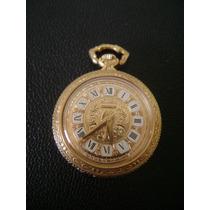 Antigo Relógio De Bolso Em Plaque De Ouro Mondaine