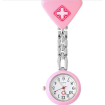 Relógio De Lapela Em Metal Para Enfermeiras Rosa