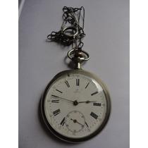 Relógio Omega De Bolso Antigo Grande 50mm Preciso