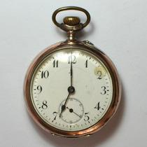 Antigo Relógio De Prata E De Bolso A Corda Alemão 3 Tampas