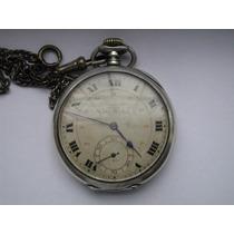 Relógio De Bolso Girard Perregaux Em Prata Maciça 925