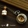 Relógio De Bolso Alice No País Das Maravilhas Bronze Antigo