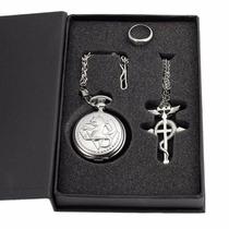 Kit Relógio, Anél E Colar - Fullmetal Alchemist - Na Caixa!