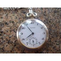 Relógio Antigo De Bolso Algebeira Technos