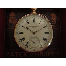 Relógio Patek Phillipe Bolso Ouro Maciço Antigo Completo