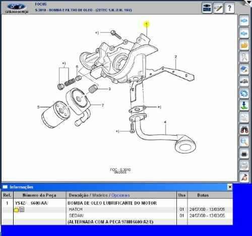 Bomba De Óleo Do Motor Zetec 16v Focus E Mondeo 1.8 2.0 00/0