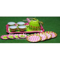Joguinho De Chá Para 4 Crianças. Com Bule E Xícaras.