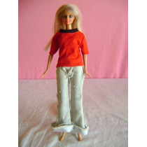 Boneca Barbie De Calça Jeans