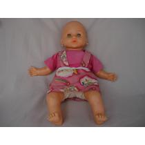 Boneca Baby Brink Antiga Restaurada Corpo De Tecid Novo 55cm