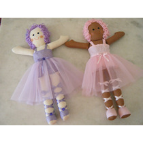 Boneca Bailarina De Pano Artesanal Vitória - 55 Cm