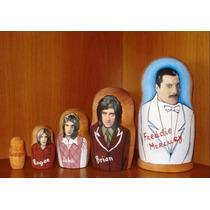 Bonecas Russas 5pcs Freddie Mercury17-18cm Matrioska Mamuska