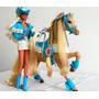 Antiga Barbie Country Cavalo Estrela/mattel Anos 90
