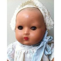 Boneca Bebe Antiga De Massa Anos 40 A Corda Estrela Ou Trol