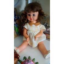 Boneca Antiga Bebe Estrela Bate Palminha Ótimo Estado.