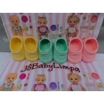 3 Sapatos P Boneca Baby Alive, Miracle Baby, Adoro Doll !