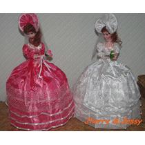 Boneca Antiga Caixa Musica Dama Sombrinha 54 Cm
