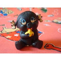 Boneca Negra Bebê Miniatura Látex Tipo Floc Import. Espanha