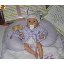 Mini Bebê Realista Reborn + Enxoval P/ Porta De Maternidade