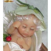 Zoar Mini Boneca Bebê Reborn Fada Polymer Clay Maternidade