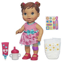 Boneca Baby Alive Machucadinho Morena