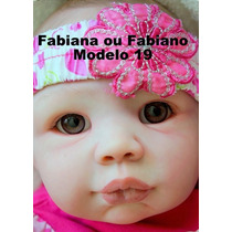 Bebê Boneca Reborn Fabiana Ou Fabiano - Parece Um Bebê Real
