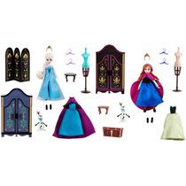 Disney Frozen Bonecas Elsa E Anna - Coleção Armário E Roupas