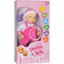 Boneca Com Emoções Roupa Rosa - Multikids
