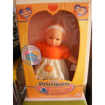 Boneca Primeiro Amor Baby Brink Ref 1442 Tamanho 43cm