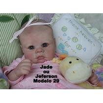 Bebê Boneca Reborn Jade Ou Jeferson - Parece Um Bebê Real