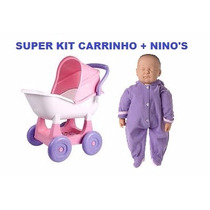 Kit Boneca Ninos + Carrinho Ninos - Cotiplás - Parc S/juros