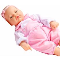 Boneca Igual Bebê De Verdade Com Chorinho E Risadinha.