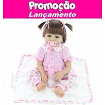 Boneca Bebe Reborn Super Realista Lacinho - Pronta Entrega