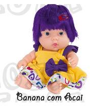 Coleção Frutinhas - Boneca Com Essência De Banana Com Açai