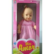 Boneca Meu Amor Estrela Brinquedo Infantil Meu Bebê Coleção