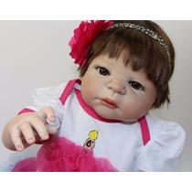 Boneca Reborn Toda Em Vinil Siliconado - Pode Dar Banho