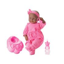 Boneca New Bebê Mania Faz Xixi Negra - Roma