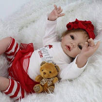 Boneca Bebê Reborn Realista 55cm - Frete Grátis