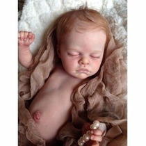 Boneca Bebê Reborn Gabrielle Corpo Inteiro Vinil Siliconado