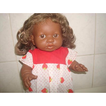 Boneca Bebê De Borracha Negra Da Cotiplas - Mede Cm.32.