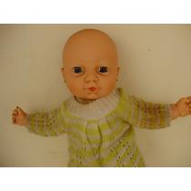 Boneca Bebê Antigo Abre E Fecha Os Olhos