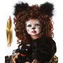 Mama Kitty Boneca De Porcelana Sentada Gatinha Um Show!