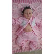 Bebê Reborn Com Placa De Barriga E Costas