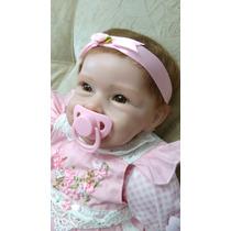 Boneca Bebê Rebourn Silicone Real 55 Cm Entrega Imediata